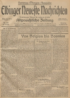 Elbinger Neueste Nachrichten, Nr. 293 Sonntag 25 Oktober 1914 66. Jahrgang