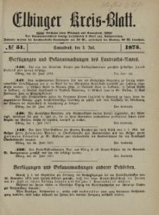 Kreis-Blatt des Königlich Preußischen Landraths-Amtes zu Elbing, Nr. 51 Sonnabend 3 Juli 1875