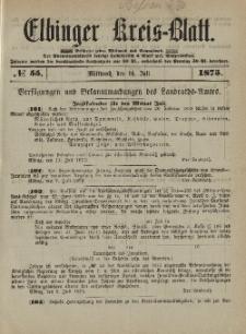 Kreis-Blatt des Königlich Preußischen Landraths-Amtes zu Elbing, Nr. 55 Mittwoch 14 Juli 1875
