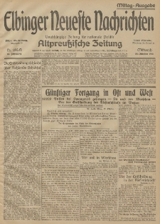 Elbinger Neueste Nachrichten, Nr. 296 Mittwoch 28 Oktober 1914 66. Jahrgang