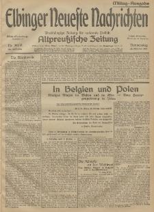 Elbinger Neueste Nachrichten, Nr. 297 Donnerstag 29 Oktober 1914 66. Jahrgang