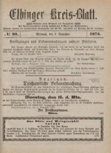 Kreis-Blatt des Königlich Preußischen Landraths-Amtes zu Elbing, Nr. 88 Mittwoch 3 November 1875