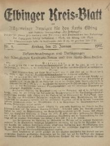Kreis-Blatt des Königlich Preußischen Landraths-Amtes zu Elbing, Nr. 8 Freitag 25 Januar 1907