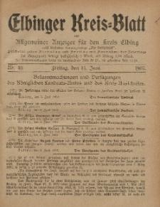 Kreis-Blatt des Königlich Preußischen Landraths-Amtes zu Elbing, Nr. 49 Freitag 14 Juni 1907
