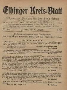 Kreis-Blatt des Königlich Preußischen Landraths-Amtes zu Elbing, Nr. 66 Freitag 9 August 1907
