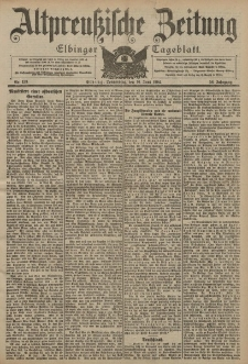 Altpreussische Zeitung, Nr. 139 Donnerstag 16 Juni 1904, 56. Jahrgang