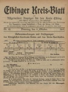 Kreis-Blatt des Königlich Preußischen Landraths-Amtes zu Elbing, Nr. 83 Dienstag 8 Oktober 1907