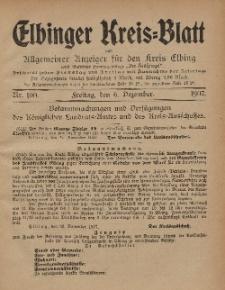 Kreis-Blatt des Königlich Preußischen Landraths-Amtes zu Elbing, Nr. 100 Freitag 6 Dezember 1907