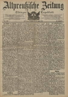 Altpreussische Zeitung, Nr. 143 Dienstag 21 Juni 1904, 56. Jahrgang
