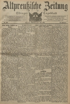 Altpreussische Zeitung, Nr. 156 Mittwoch 6 Juli 1904, 56. Jahrgang