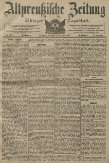 Altpreussische Zeitung, Nr. 160 Sonntag 10 Juli 1904, 56. Jahrgang