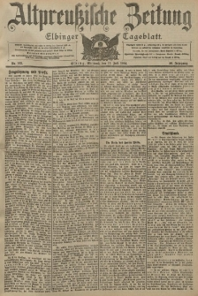 Altpreussische Zeitung, Nr. 162 Mittwoch 13 Juli 1904, 56. Jahrgang