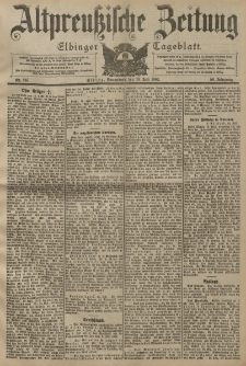 Altpreussische Zeitung, Nr. 165 Sonnabend 16 Juli 1904, 56. Jahrgang