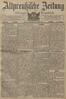 Altpreussische Zeitung, Nr. 166 Sonntag 17 Juli 1904, 56. Jahrgang