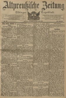 Altpreussische Zeitung, Nr. 168 Mittwoch 20 Juli 1904, 56. Jahrgang
