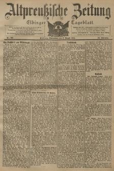 Altpreussische Zeitung, Nr. 183 Sonnabend 6 August 1904, 56. Jahrgang