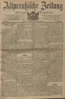 Altpreussische Zeitung, Nr. 191 Dienstag 16 August 1904, 56. Jahrgang