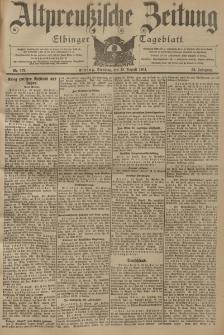 Altpreussische Zeitung, Nr. 197 Dienstag 23 August 1904, 56. Jahrgang