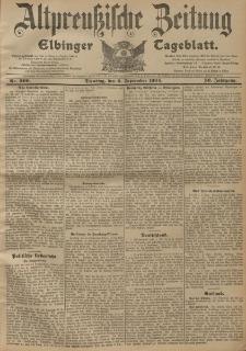 Altpreussische Zeitung, Nr. 209 Dienstag 6 September 1904, 56. Jahrgang