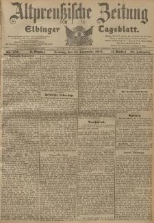 Altpreussische Zeitung, Nr. 220 Sonntag 18 September 1904, 56. Jahrgang