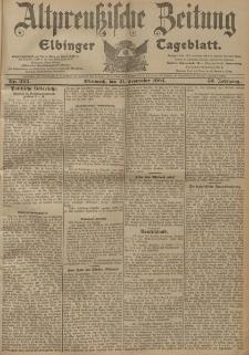 Altpreussische Zeitung, Nr. 222 Mittwoch 21 September 1904, 56. Jahrgang