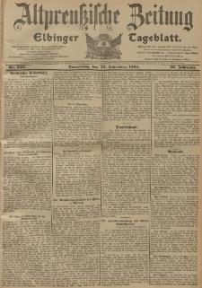 Altpreussische Zeitung, Nr. 223 Donnerstag 22 September 1904, 56. Jahrgang