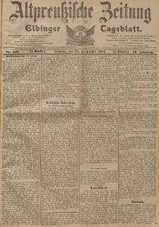 Altpreussische Zeitung, Nr. 226 Sonntag 25 September 1904, 56. Jahrgang