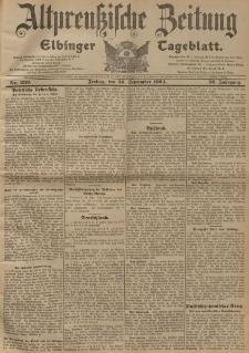 Altpreussische Zeitung, Nr. 230 Freitag 30 September 1904, 56. Jahrgang