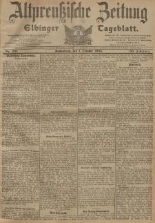 Altpreussische Zeitung, Nr. 231 Sonnabend 1 Oktober 1904, 56. Jahrgang