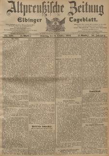 Altpreussische Zeitung, Nr. 238 Sonntag 9 Oktober 1904, 56. Jahrgang
