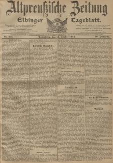 Altpreussische Zeitung, Nr. 241 Donnerstag 13 Oktober 1904, 56. Jahrgang