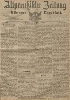 Altpreussische Zeitung, Nr. 242 Freitag 14 Oktober 1904, 56. Jahrgang