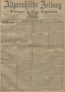 Altpreussische Zeitung, Nr. 249 Sonnabend 22 Oktober 1904, 56. Jahrgang