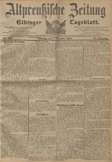Altpreussische Zeitung, Nr. 257 Dienstag 1 November 1904, 56. Jahrgang