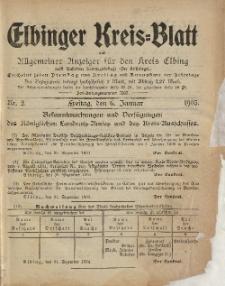 Kreis-Blatt des Königlich Preußischen Landraths-Amtes zu Elbing, Nr. 2 Freitag 6 Januar 1905