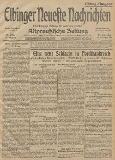 Elbinger Neueste Nachrichten, Nr. 324 Donnerstag 26 November 1914 66. Jahrgang