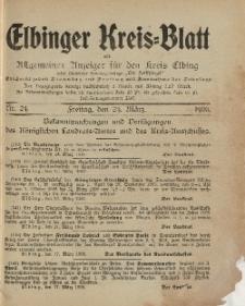 Kreis-Blatt des Königlich Preußischen Landraths-Amtes zu Elbing, Nr. 24 Freitag 24 März 1905