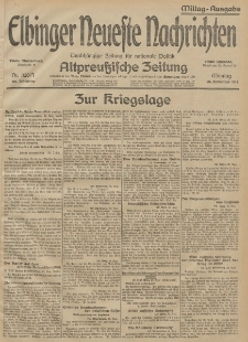Elbinger Neueste Nachrichten, Nr. 328 Montag 30 November 1914 66. Jahrgang