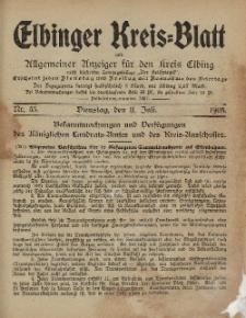 Kreis-Blatt des Königlich Preußischen Landraths-Amtes zu Elbing, Nr. 55 Dienstag 11 Juli 1905
