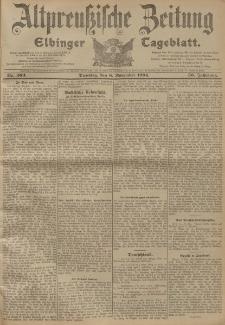 Altpreussische Zeitung, Nr. 263 Dienstag 8 November 1904, 56. Jahrgang