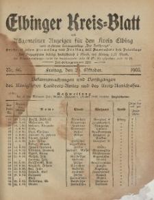 Kreis-Blatt des Königlich Preußischen Landraths-Amtes zu Elbing, Nr. 86 Freitag 20 Oktober 1905