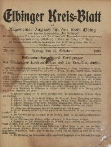 Kreis-Blatt des Königlich Preußischen Landraths-Amtes zu Elbing, Nr. 88 Freitag 27 Oktober 1905