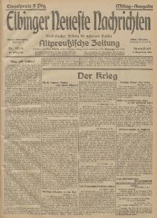 Elbinger Neueste Nachrichten, Nr. 333 Sonnabend 5 Dezember 1914 66. Jahrgang