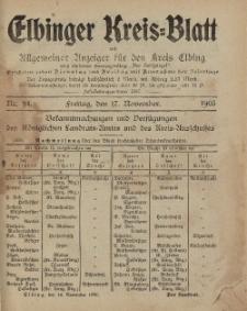 Kreis-Blatt des Königlich Preußischen Landraths-Amtes zu Elbing, Nr. 94 Freitag 17 November 1905