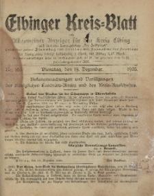 Kreis-Blatt des Königlich Preußischen Landraths-Amtes zu Elbing, Nr. 103 Dienstag 19 Dezember 1905