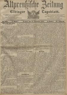 Altpreussische Zeitung, Nr. 273 Sonntag 20 November 1904, 56. Jahrgang