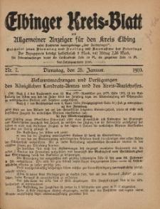 Kreis-Blatt des Königlich Preußischen Landraths-Amtes zu Elbing, Nr. 7 Dienstag 25 Januar 1910