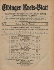 Kreis-Blatt des Königlich Preußischen Landraths-Amtes zu Elbing, Nr. 8 Freitag 28 Januar 1910