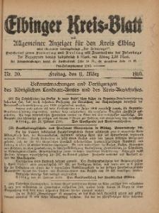 Kreis-Blatt des Königlich Preußischen Landraths-Amtes zu Elbing, Nr. 20 Freitag 11 März 1910