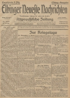 Elbinger Neueste Nachrichten, Nr. 338 Donnerstag 10 Dezember 1914 66. Jahrgang